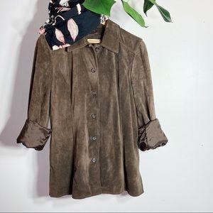 NWT Vintage Suede Blazer